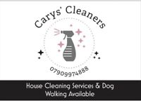 Cleaning and dog walking services