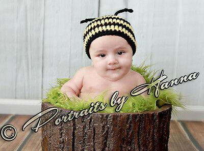 NEW INFANT BABY CROCHET BUMBLE BEE HAT cap beanie toddler boy girl photo prop