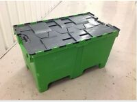 200ltr - 100kg - Removal & Storage Tote - Container Box Plastic Crate 1000x600x575mm Stackable