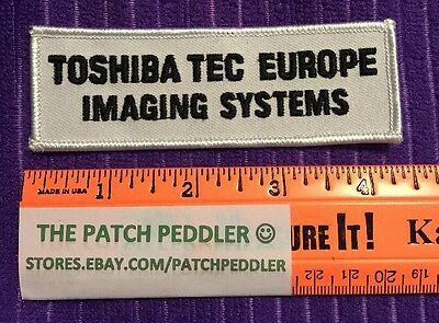 Uniform Patch Toshiba Tec Europe Imaging Systems  #3U