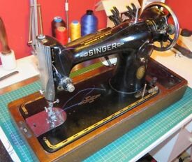 Sewing Machine Singer 201K with New Motor, Electrics and Foot control, Runs like a Rolls Royce