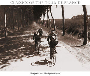 Presse-The-Long-Road-Ahead-Tour-De-France-print-Cycling-art-sports-poster-22x30