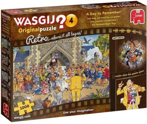 Jumbo 1000 Piece Jigsaw Puzzle - Retro Wasjig Original 4