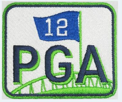 SEATTLE SEAHAWKS PGA PATCH PAUL ALLEN MEMORIAL COMMEMORATIVE JERSEY STYLE 3""