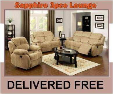 DELIVERED FREE Chocolate Recliner Lounge Suite – BRAND NEW!! New Farm Brisbane North East Preview