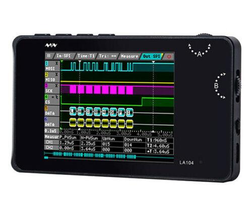 """Mini DSO LA104 Digital Logic Analyzer Portable 2.8"""" Screen 4 Channels 100Mhz"""