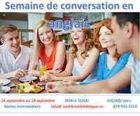 CONVERSATION ANGLAISE  1 semaine  complète