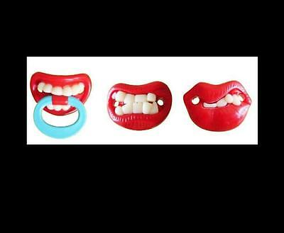 Funny Baby Pacifiers (3 Packs Funny Teeth Mustache Baby Kids Infant Pacifier Orthodontic Dummy)