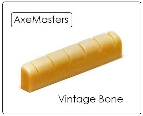 """AxeMasters 1 9/16"""" / 40mm UNBLEACHED BONE NUT for GIBSON Electric Guitar LP 335"""