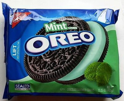 NEW Nabisco Oreo Mint Flavor Creme Cookies FREE WORLDWIDE SHIPPING (Oreo Mint)