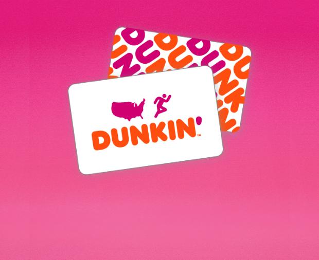 Dunkin Donuts Gift Card 83.00 - $65.00