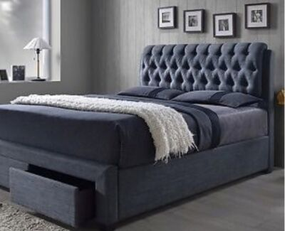 UPHOLSTERED BEDS WITH DRAWS from $799, queen & king PAYMENT PLANS Southport Gold Coast City Preview