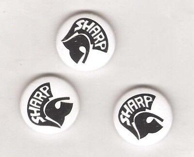 1x SHARP Button Skinheads Against Racial Prejudice