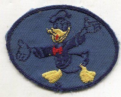 Original WWII Donald Duck Disney Patch BLUE