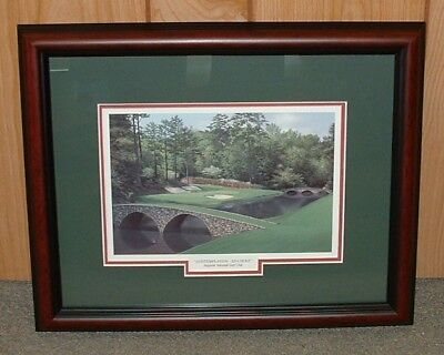- Framed Augusta National golf print- 12th Hole MASTERS 13