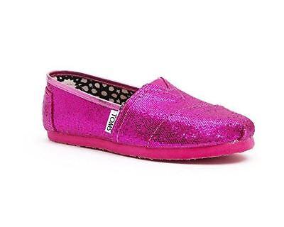 Hot Pink Glitters 3 Sparkle Slip On Shoe; Youth SIZE 3, 5 US (Hot Pink Glitter Schuhe)