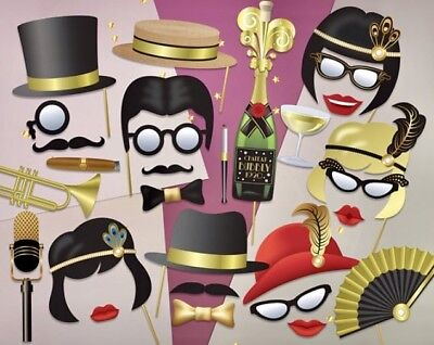 Ready Made Great Gatsby Photo Booth Props Roaring 20