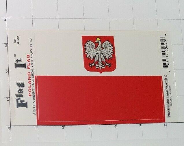 Poland Decal Polska Polish Sticker Auto Orzeł Biały