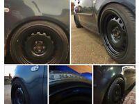 set of 4 banded steel wheels 5 stud PCD 5 x 100