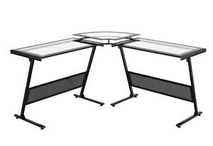 Barely used metal/glass Computer Desk