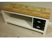 Tv Stand and storage,hand made from reclaimed timber