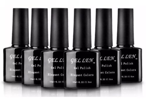 Gellen UV Gel Nail Polish Set, Pack of 6 Colors + Base And T