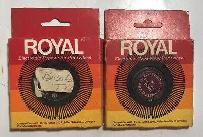 Royal Signet Sears Electronic Typewriter Print Wheel Script Office Vintage Rare