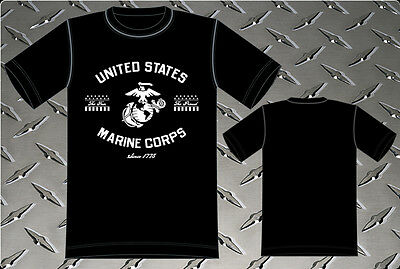 Us Marines Black T-shirt Mens Shirt The Few The Proud Usmc Shirt