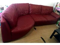 Real leather corner sofa from IKEA