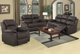 NEW BOXED - Free Delivery - LA Leather Sofa Suite 3+2 Free Delivery