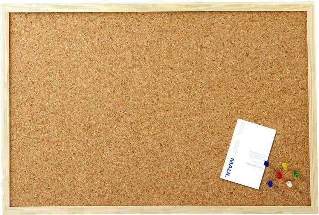 Maul Pinnwand 60 x 40 cm Kork mit Holzrahmen inkl. Pinn-Nadeln 2704070