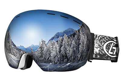 Double anti-fog spherical ski glasses for men and women adult ski (Anti Fog Cloth For Glasses)