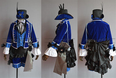 Black Butler Ciel Phantomhive Blau Blue Knight costume Kostüm Cosplay Kleid