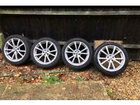 "5x98 17"" Alfa Romeo 147 GT 156 TI Style Alloy Wheels Alloys With Tyres"