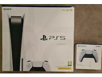 PS5 boxed with pad used