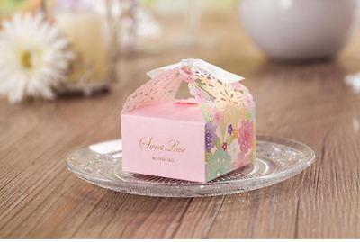 10x Pink Wedding Bridal Bomboniere Favour Box; Bulk Buy Discount Apply! ()