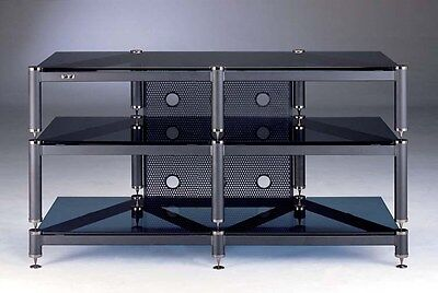 Beautiful VTI BLG503 Audio/Video 3 Shelf Glass Rack,NEW ()
