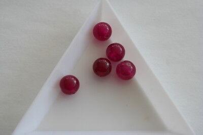 Round Gemstone Jade Fuschia Beads. 8mm. 20 beads. #3012