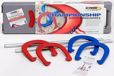 Horse Shoe Game (New St. Pierre Sports Championship Forged Steel Horseshoe Game Set Horse)