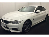 White BMW 435d 313bhp M Sport Coupe Diesel Auto 2015 FROM £114 PER WEEK!