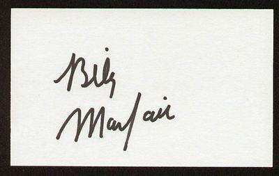 - Billy Mayfair signed auto 3x5 index card PGA Golfer