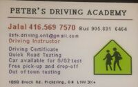 Driving school-Road test for G2 & G