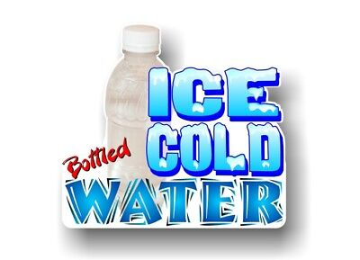 Bottled Water 9x10 Decal For Concession Trailer Sign Or Hot Dog Cart Banner