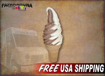 Soft Serve Twist Cone 5x13 Decal For Ice Cream Truck Or Parlor Menu Sign