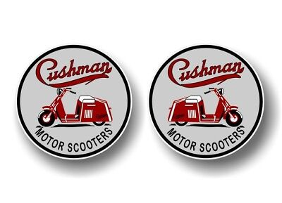 """(2) CUSHMAN 4"""" VINTAGE Motor Scooter Decals Eagle Husky Golfster Vinyl Stickers, used for sale  Canada"""