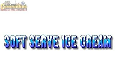 Soft Serve Ice Cream -2 Foot- Decal Saniserve Parlor Machine Truck Sign Sticker