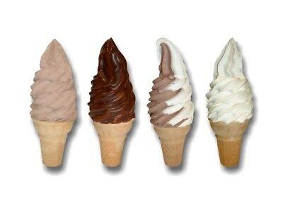 4 Assorted Soft Serve Cone 12 Decals Ice Cream Truck Parlor Machine Menu Sign