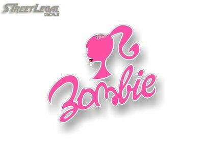 Zombie Barbie Vinyl Graphics Dead Girl Decal JDM Car SUV Halloween Sticker Prop
