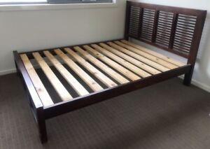 Solid timber queen sized bed frame, can deliver