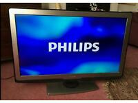 "40 "" Philips smart led lcd tv full hd USB, WiFi, with built-in freeview."